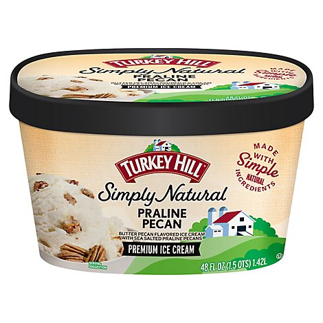 Turkey Hill Ice Cream All Natural Naturally Simple Butter Pecan - 48 Oz