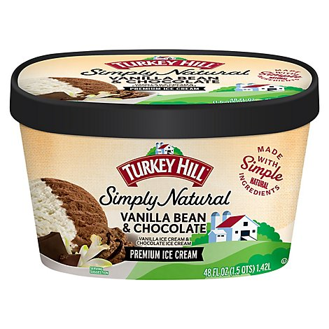 Turkey Hill Ice Cream All Natural Vanilla Bean & Chocolate - 48 Oz