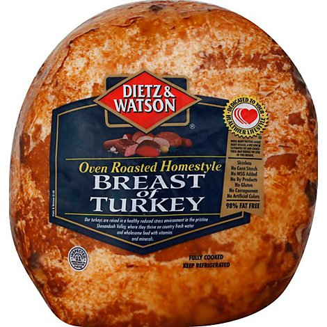 Dietz & Watson Turkey Breast Homestyle Pre Sliced - 0.50 LB