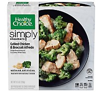 Healthy Choice Cafe Steamers Chicken Broccoli Alfedo - 9.15 Oz