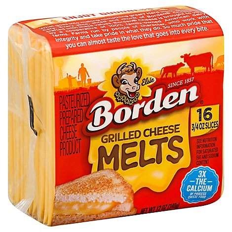 Borden Cheese Product Pasteurized Prepared Grilled Cheese Melts - 12 Oz