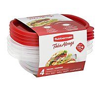 Rubbermaid Take Alongs Containers + Lids Square - Each