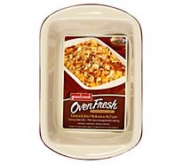 Good Cook Oven Fresh Stoneware Side Dish Oblong 7.8 x 5.8 Inch 1 Quart - Each