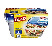Glad Gladware Deep Dish 64 Ounce - 3 Count