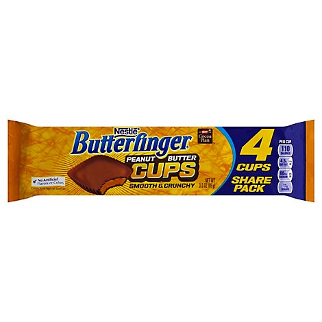 Butterfinger Peanut Butter Cups Smooth & Crunchy Share Pack - 3 Oz