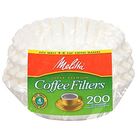 Melitta Coffee Filters Basket Junior - 200 Count