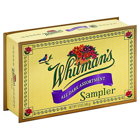 Whitmans Chocolates Sampler All Dark Assorment - 12 Oz