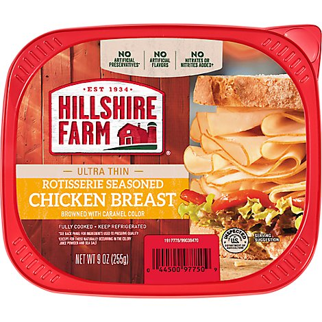 Hillshire Farm Ultra Thin Sliced Lunchmeat Rotisserie Seasoned Chicken Breast - 9 Oz
