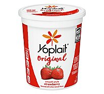 Yoplait Original Yogurt Low Fat Smooth Style Strawberry Flavored - 2 Lb