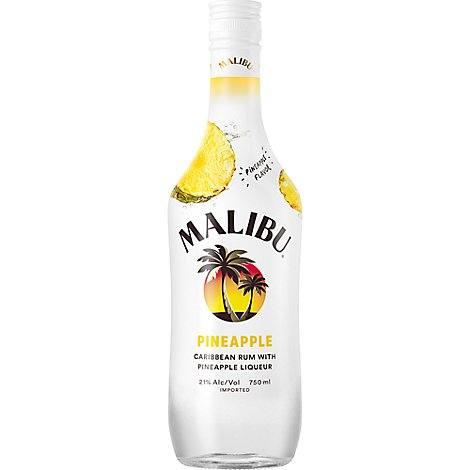Malibu Rum Caribbean Pineapple Flavor 42 Proof - 750 Ml
