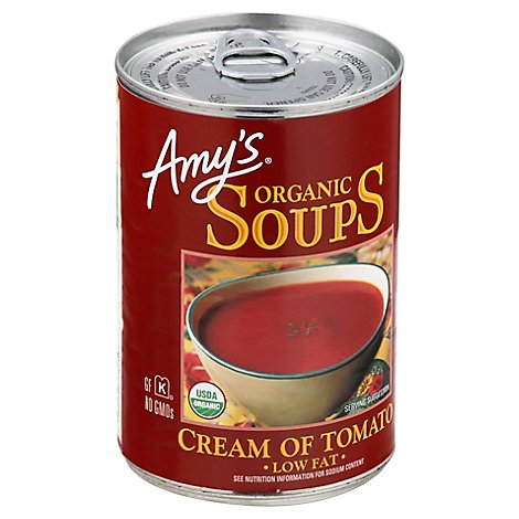 Amys Soups Organic Low Fat Cream of Tomato - 14.5 Oz