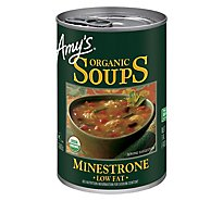 Amys Soups Organic Low Fat Minestrone - 14.1 Oz