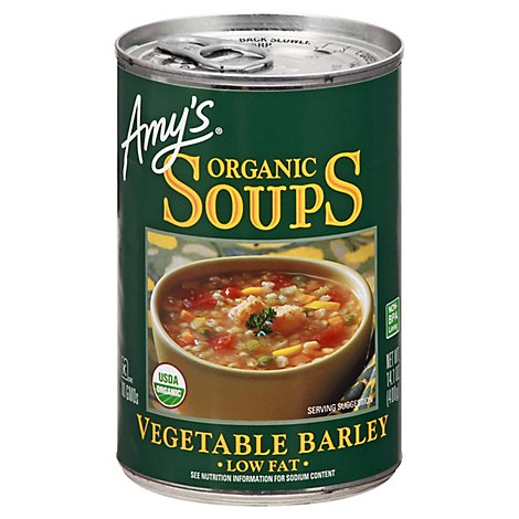 Amys Soups Organic Low Fat Vegetable Barley - 14.1 Oz