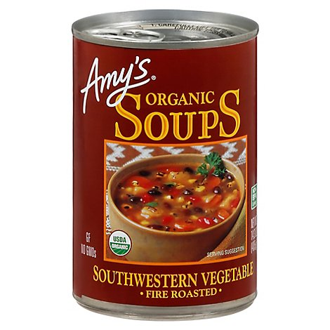 Amys Organic Soups Fire Roasted Southwestern Vegetable - 14.3 Oz