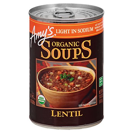 Amys Soups Organic Light in Sodium Lentil - 14.5 Oz