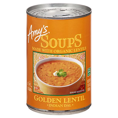 Amys Organic Soups Indian Dal Golden Lentil - 14.4 Oz