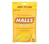HALLS Cough Suppressant Drops Triple Soothing Action Honey Lemon Bonus Pack - 40 Count