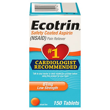 Ecotrin Low Dose 81 Mg Tablets - 150 Count