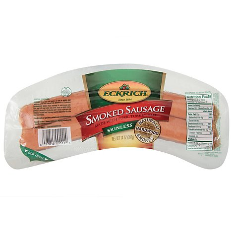 Eckrich Sausage Smoked Skinless - 14 Oz