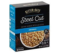 Better Oats Oat Revolution! Oatmeal Instant with Flax Steel Cut Classic - 10 Count