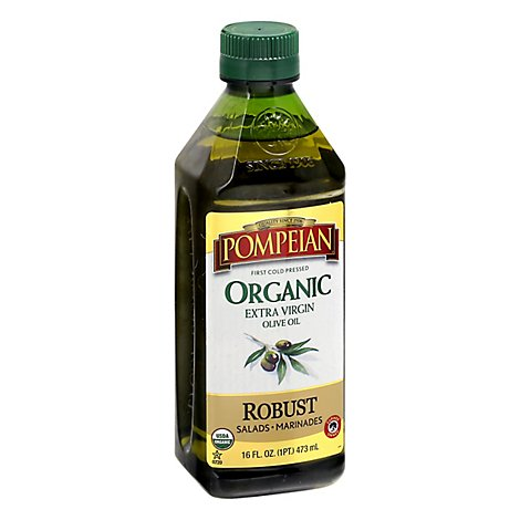 Pompeian Olive Oil Organic Extra Virgin Full-Bodied Flavor - 16 Fl. Oz.