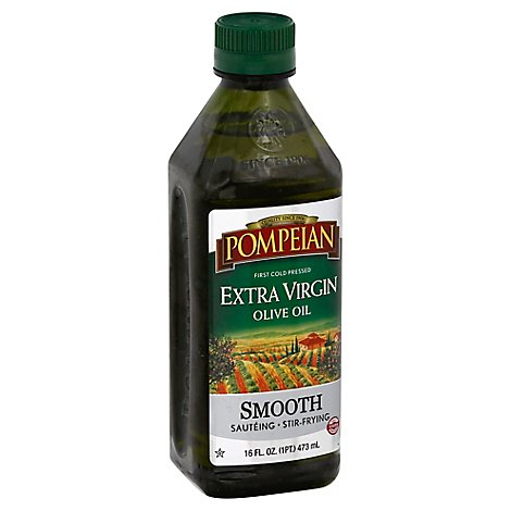 Pompeian Olive Oil Extra Virgin Smooth - 16 Fl. Oz.