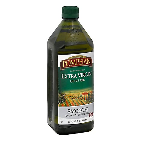 Pompeian Olive Oil Extra Virgin Smooth - 32 Fl. Oz.