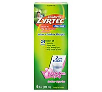 Zyrtec Allergy Childrens Sugar Free Bubble Gum - 4 Oz