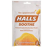 HALLS Cough Suppressant Drops Soothes & Relieves Honey - 30 Count