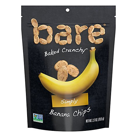 Bare Foods Banana Chips Crunchy Simply - 2.7 Oz