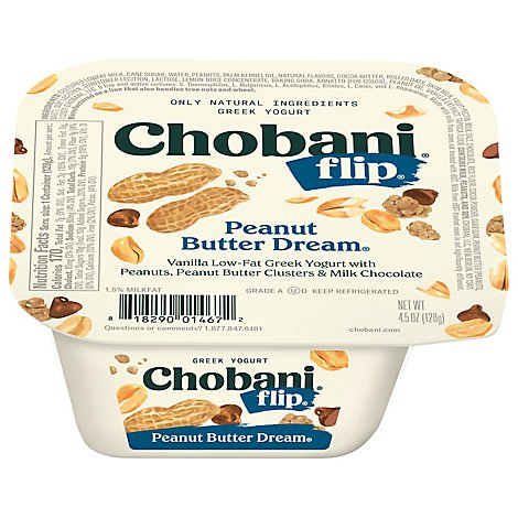 Chobani Flip Yogurt Greek Peanut Butter Dream - 5.3 Oz