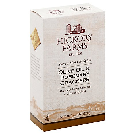Hickory Farms Crackers Olive Oil & Herb - 4.4 Oz