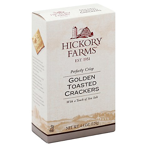 Hickory Farms Crackers Golden Toasted - 4.4 Oz