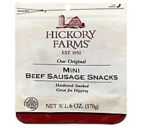 Hickory Farms Sausage Snacks Mini Beef Original - 6 Oz