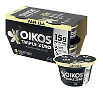 Oikos Greek Yogurt Blended Triple Zero Vanilla - 4-5.3 Oz