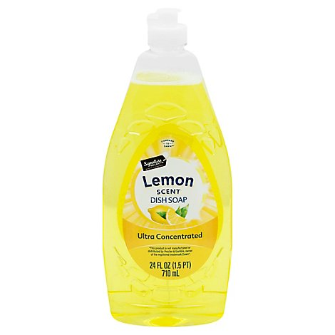Signature SELECT/Home Dishwashing Liquid Ultra Concentrated Lemon Scent - 24 Fl. Oz.