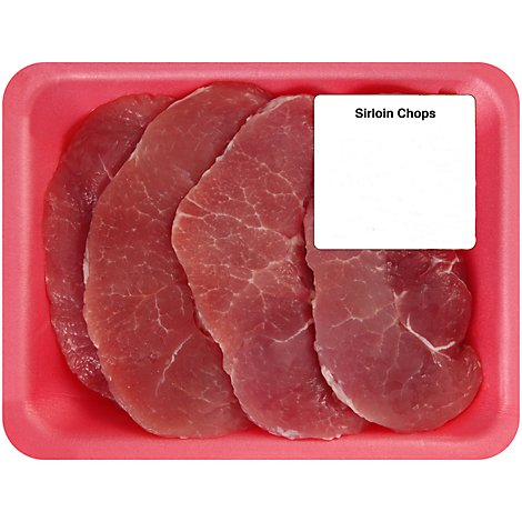Meat Counter Pork Sirloin Thin Cut Chops Vpc - 3.50 LB