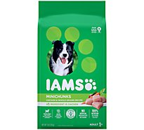 IAMS Proactive Health Dog Food Dry Adult Minichunks Small Kibble With Real Chicken - 7 Lb