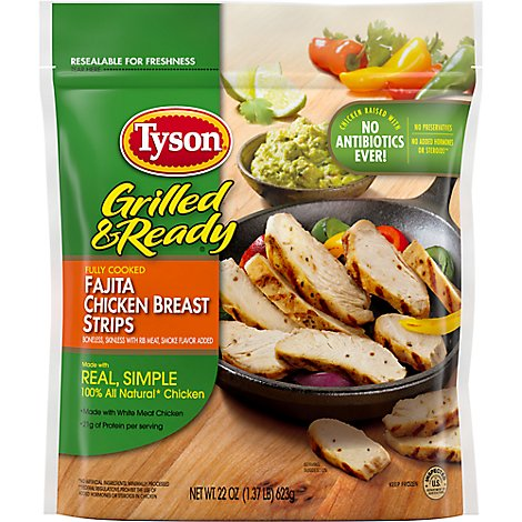 Tyson Grilled & Ready Fully Cooked Fajita Chicken Strips - 22 Oz