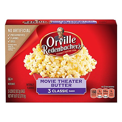 Orville Redenbachers Popping Corn Gourmet Movie Theater Butter - 3-3.29 Oz
