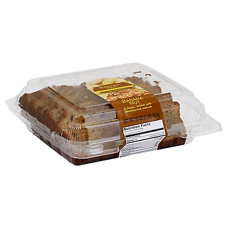Fresh Baked CSM Banana Nut Loaf Slice Cake - Each