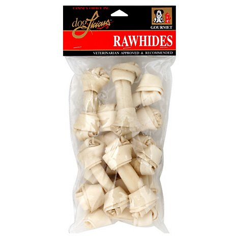 DogLicious Dog Treats Rawhides Bones - 10 Count