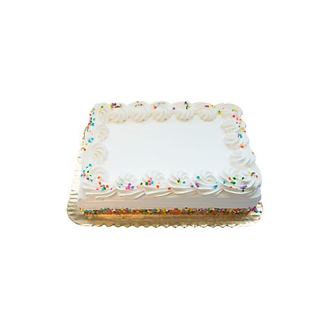 Bakery Cake 1/4 Sheet With White Whip - Each