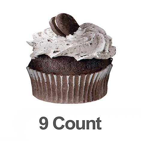 Bakery Cupcake Oreo Cookies & Cream 9 Count - Each