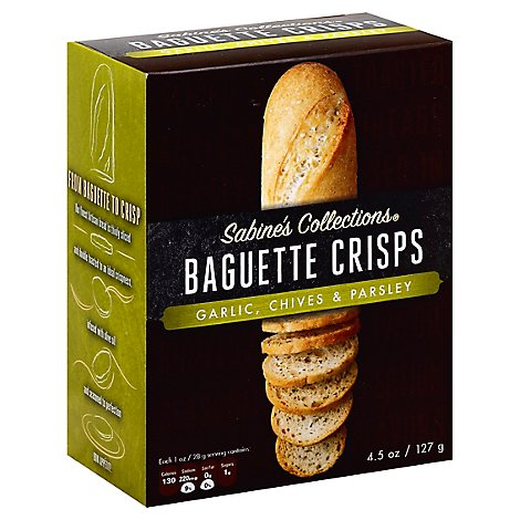 Sabines Collections Baguette Crisps Garlic & Chive - 4.5 Oz