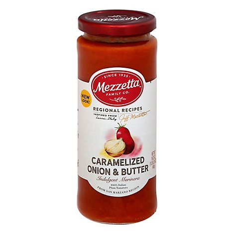 Mezzetta Marinara Sauce Indulgent Caramelize Onion & Butter Jar - 16.25 Oz