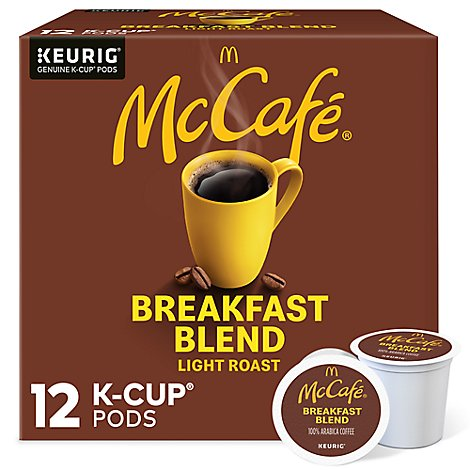 McCafe Coffee Arabica K-Cup Pods Light Roast Breakfast Blend - 12 Count
