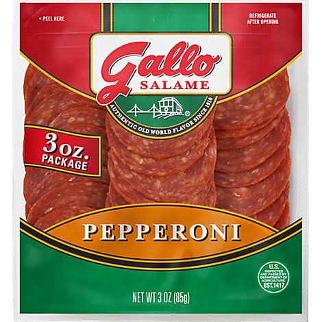 Gallo Salame Deli Sliced Pepperoni - 3 Oz