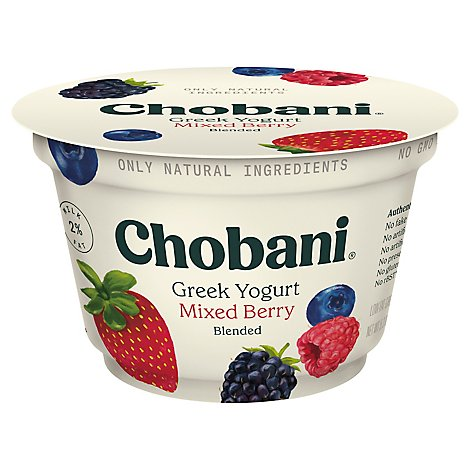 Chobani Yogurt Greek Blended Low-Fat Mixed Berry - 5.3 Oz