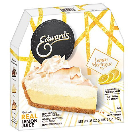 EDWARDS Pie Lemon Mirengue Box Frozen - 35 Oz